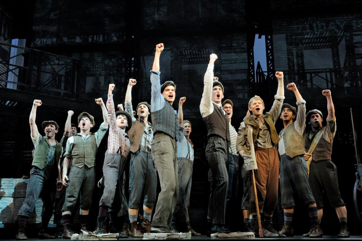 "Cast of the Broadway production of ""Newsies"" / Photo courtesy of Newsies Facebook page"