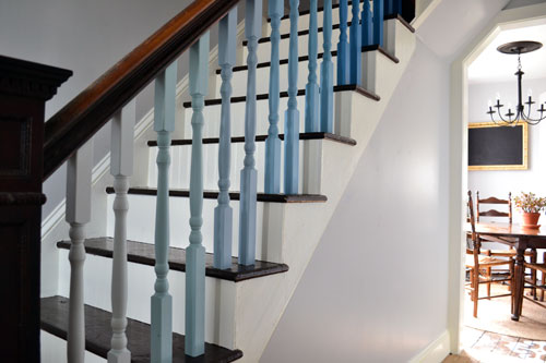 Ombre Staircase Balusters