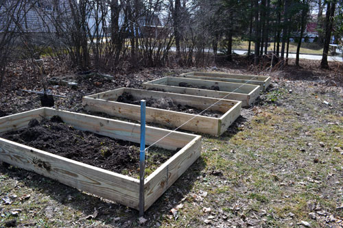 Four Assembled Raised Beds
