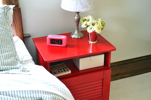 Red Nightstand