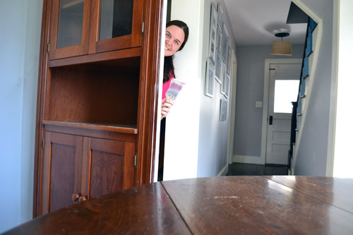 China Cabinet As Hidden Closet Door