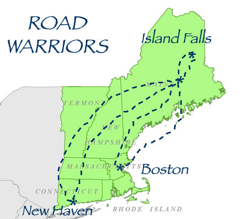 Road Warriors Map