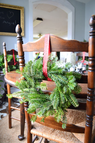 Mini Wreaths For Back Of Chairs
