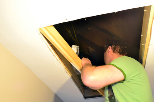 Rip Out Old Attic Opening Trim