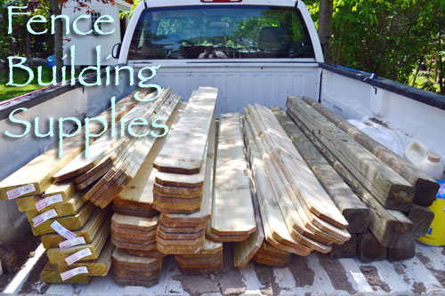 Lumber For Fence Building