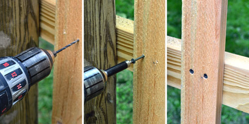 Permanently Screw Pickets To Railing Angie S Roost