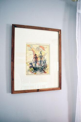 Ship Art In Wooden Frame
