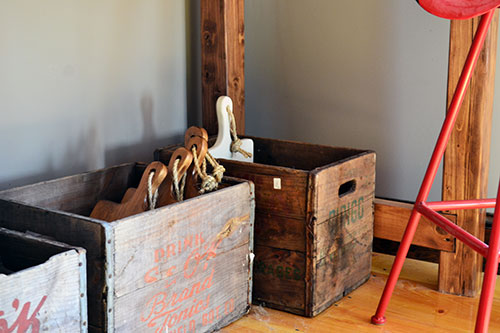 Old Wood Boxes For Product Storage