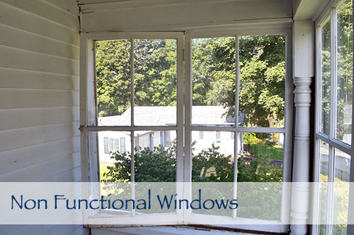 Porch Problem 1 Non Functional Windows