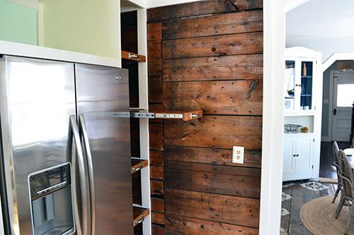 Finished Pantry Pull Out Shelves