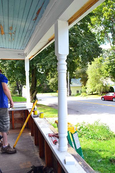 Demo Porch Before Sill Repair