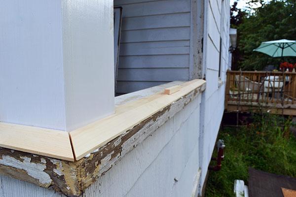 Installing Porch Window Sill