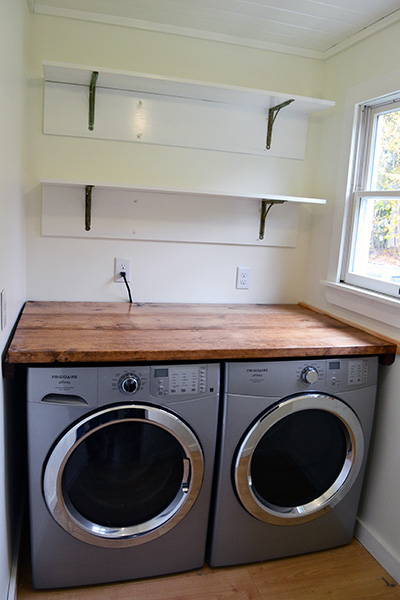 Installing Laundry Room Shelves