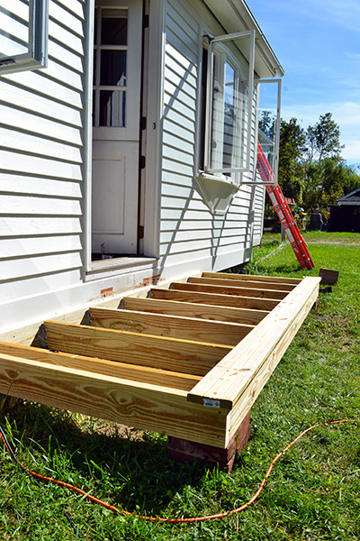 Adding Deck Boards To The Back Stoop