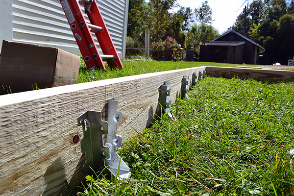 Adding Joist Hangers To The Deck Frame