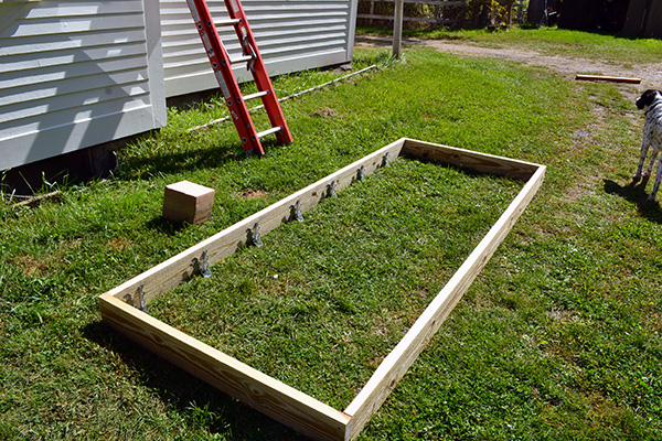 Building A Small Deck Frame