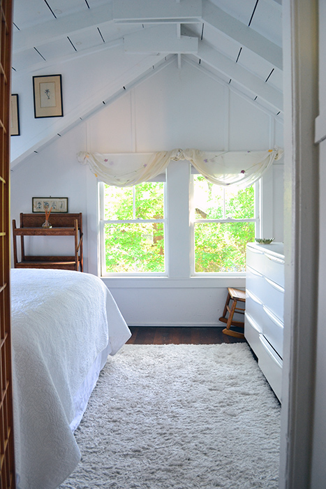 Lofted And Planked Bedroom Celing