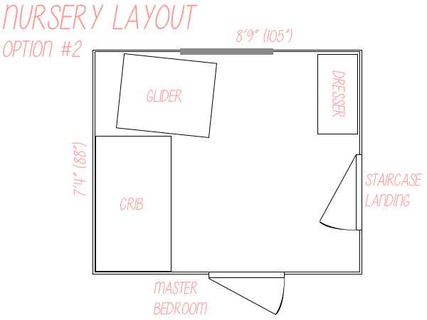 Small nursery layout floor plan option 2