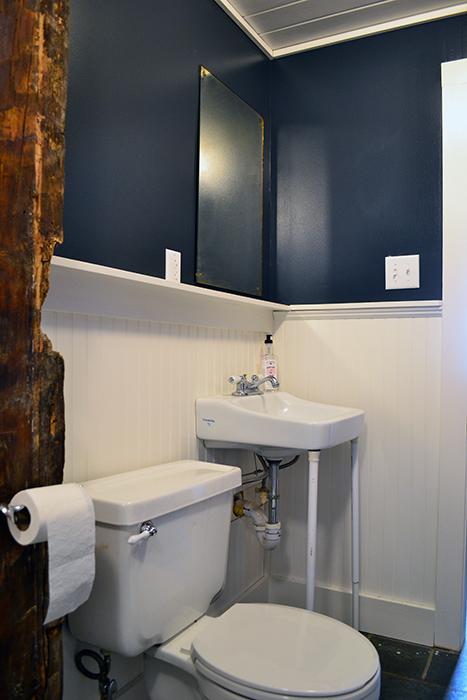 Bathroom renovation progress in January