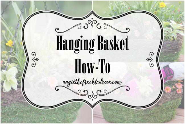 Hanging Basket How-To | angiethefreckledrose.com