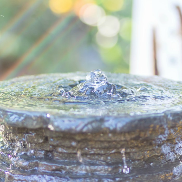 DIY Backyard Water Fountain