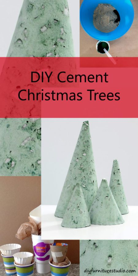 DIY Furniture Studio | Modern Cement Christmas Trees
