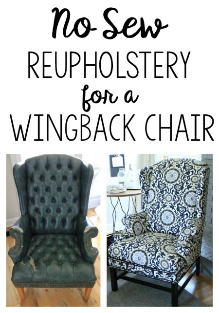 Reupholstering A Wingback Chair - Noting Grace