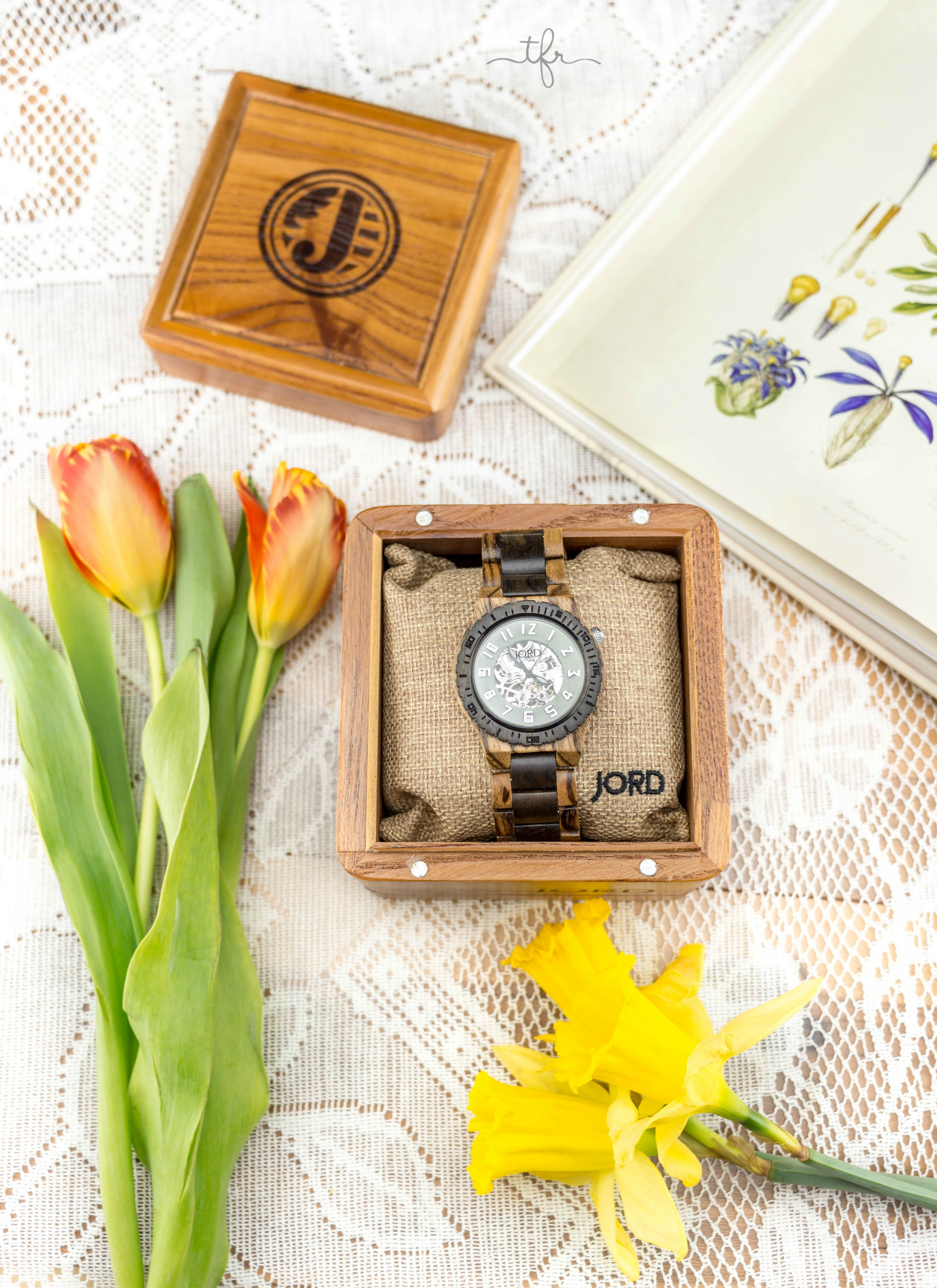 It's Finally Time for Spring! | Zebrawood and Dark Sandalwood JORD wood watch | Angie The Freckled Rose