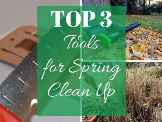 Top 3 Tools For Spring Clean Up