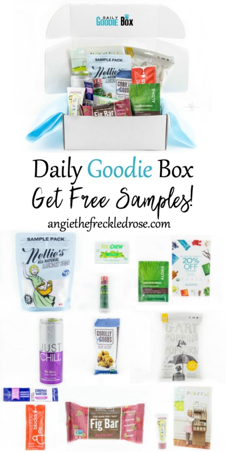 As I patiently wait for gardening season to begin, I try my best to keep myself busy indoors. I'm always on the lookout for delicious organic snacks and household products to try. Let me introduce you to Daily Goodie Box! They offer a box filled with free samples in exchange for your opinion on the products you try. Yes, I'm serious! Completely free, no charges for shipping and no credit card required to sign up.