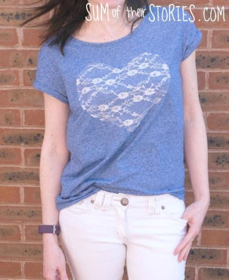 http://www.sumoftheirstories.com/2017/04/lace-heart-t-shirt-refashion.html