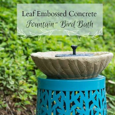 Leaf Embossed Concrete Fountain Bird Bath - Hearth and Vine
