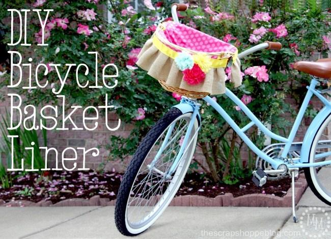 DIY Bicycle Basket Liner - The Scrap Shoppe Blog