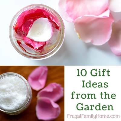 10 Gift Ideas from the Garden - Frugal Family Home