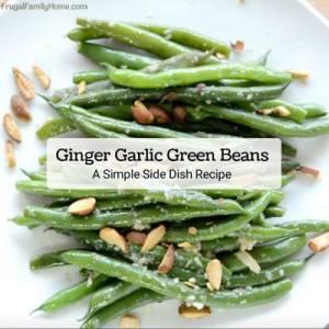 Ginger Garlic Green Beans - Frugal Family Home