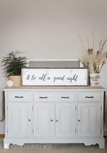 Rustic Holiday Sign | North Country Nest