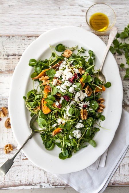 Healthy Watercress Salad w/ Honey Vinaigrette | Claire Justine
