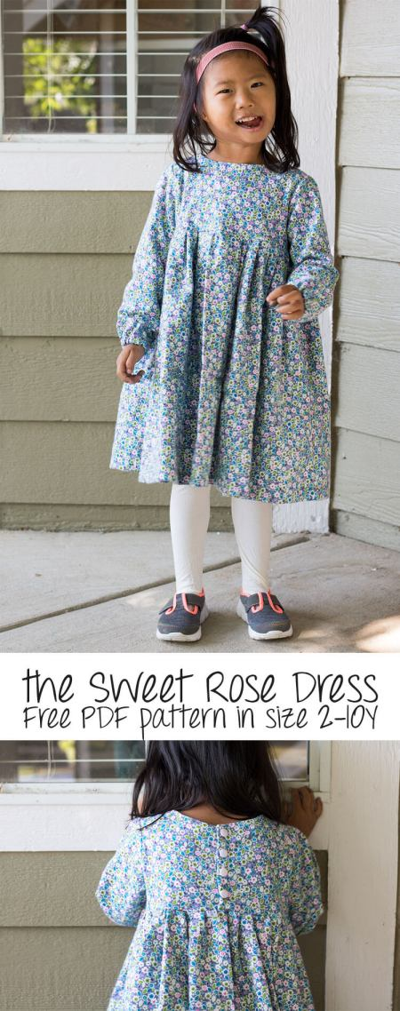 Girls Sweet Rose Dress Pattern | Life Sew Savory
