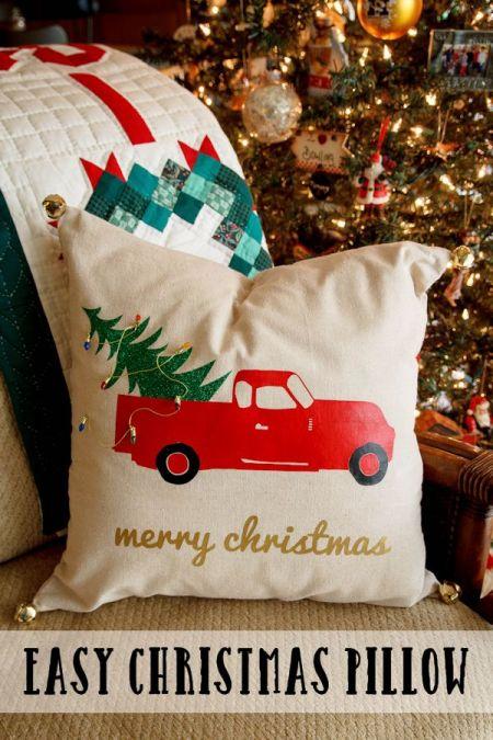 Easy Christmas Pillow | My Life Abundant