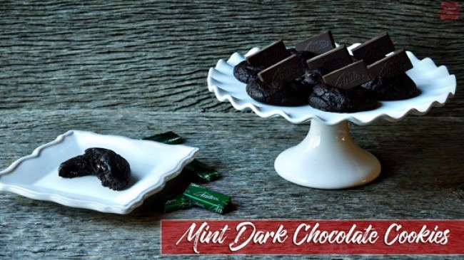 Mint Dark Chocolate Cookies   Mrs. Kringle's Kitchen