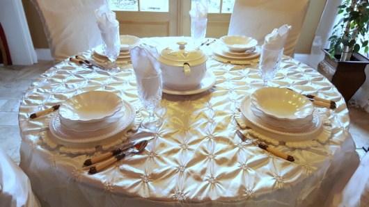 Creamy White Tablescape   Life and Linda