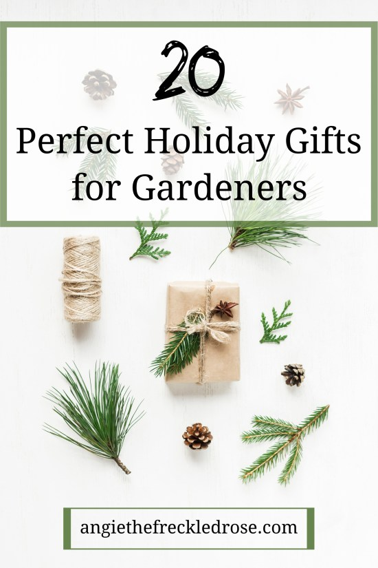 20 Perfect Holiday Gifts For Gardeners | The holiday season is here! This means that it's the time we all start searching for that perfect gift for our friends and family. For those of us who love to dig in the dirt, this list has everything from planters to stocking stuffers and everything in-between. | angiethefreckledrose