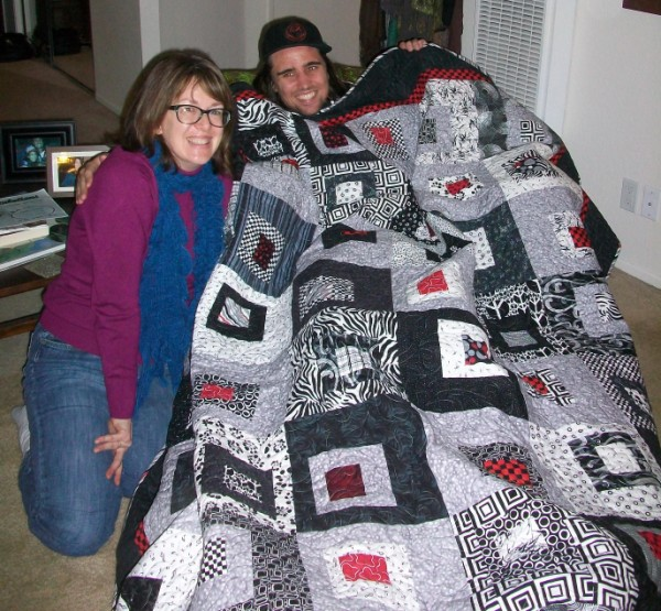 Me, Chris and His Quilt