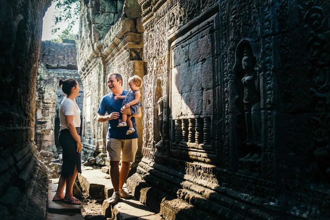 Family Laughs in Preah Khan