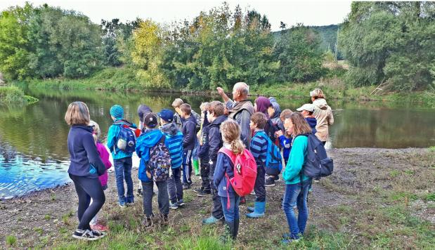 Grundschule Rothenstein interessiert sich für die Saale