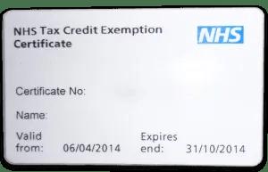 NHS Tax Credit Kártya