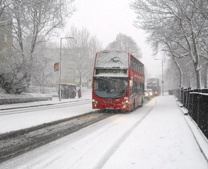 Havazás várható Londonban