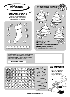 Christmas Printables English For Kids