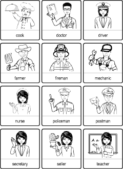 Occupations Vocabulary For Kids Learning English