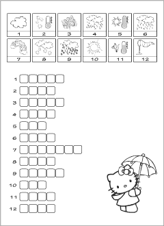 Weather Vocabulary For Kids Learning English